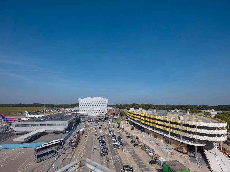 De Bever Architecten is the designer of the multi-purpose building at the airport. Credit: Norbert van Onna