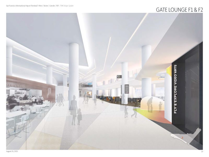 The San Francisco International Airport Terminal 3 West renovation project involves an estimated investment of $1bn. Credit: San Francisco International Airport.
