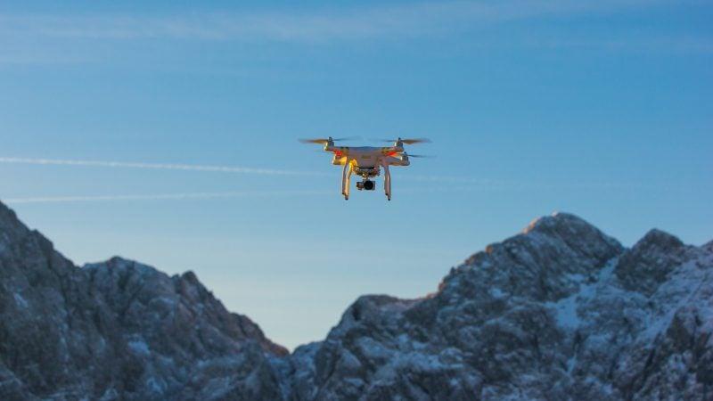 Drone/UAV in flight