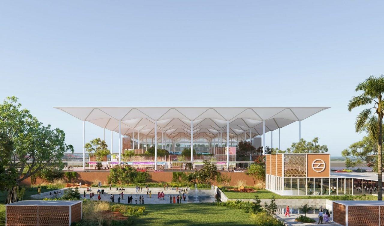 Delhi Noida Airport render – credit Grimshaw Architects-min