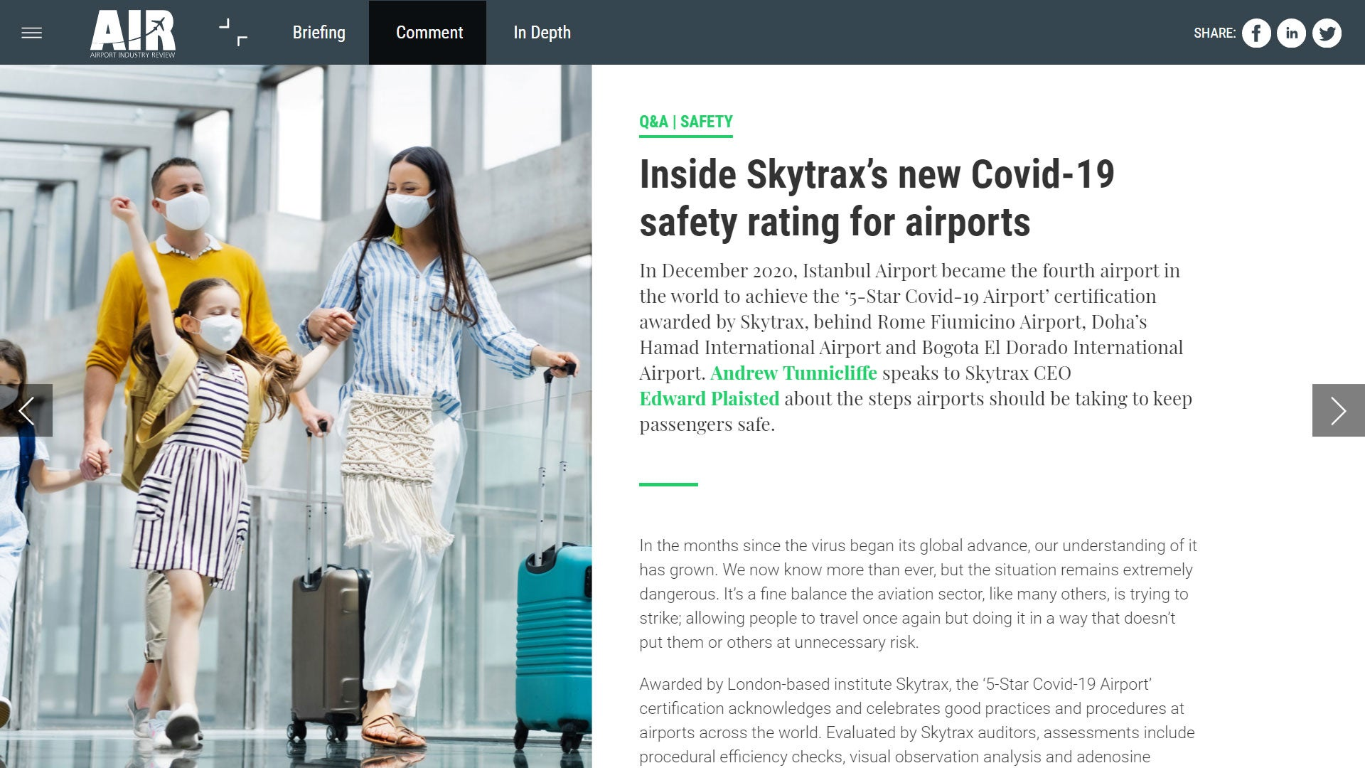 Covid-19 safety at airports