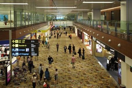 Changi airport traffic