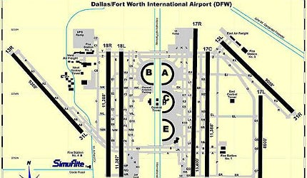 Dallas / Fort Worth International Airport layout