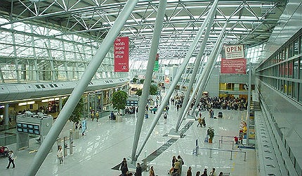 The airport is located seven kilometres from the downtown area of Düsseldorf, the capital city of North Rhine-Westphalia