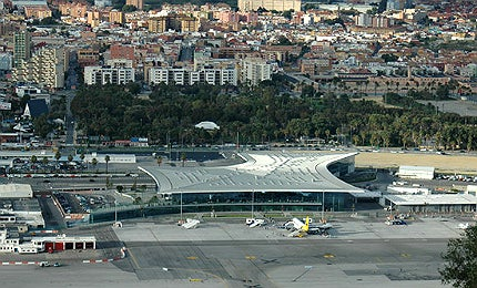The airport is located at the centre of Gibraltar