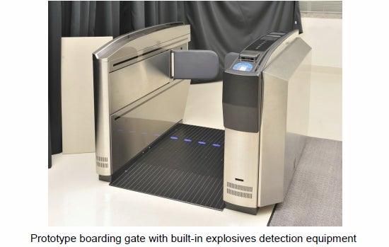 HItachi prototype boarding gate