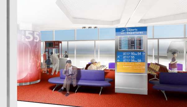 Paris CDG revamped Satellite lounge