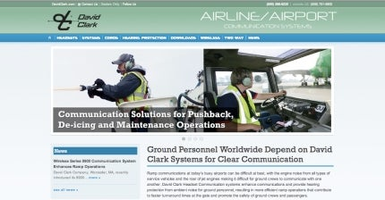 New website for airline or aiport ground support communications