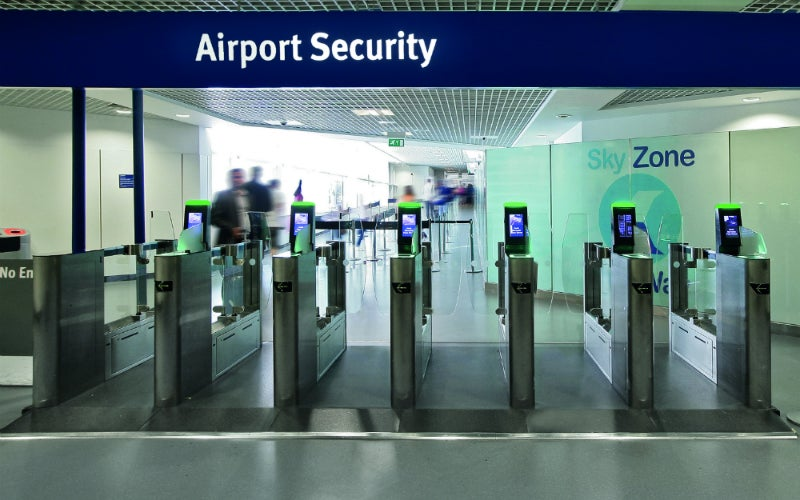 Airport security gates
