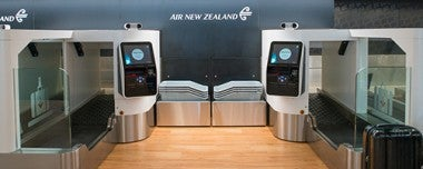 air new zealand biometric self-service bag drop