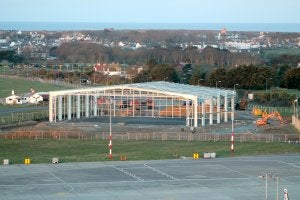 Jewers has been contracted to supply its famous Esavian doors for the new Isle of Man jet centre.