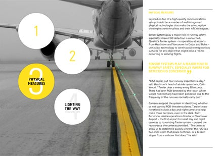 Airport Industry Review - in the first issue we take a look at technologies to improve airfield safety
