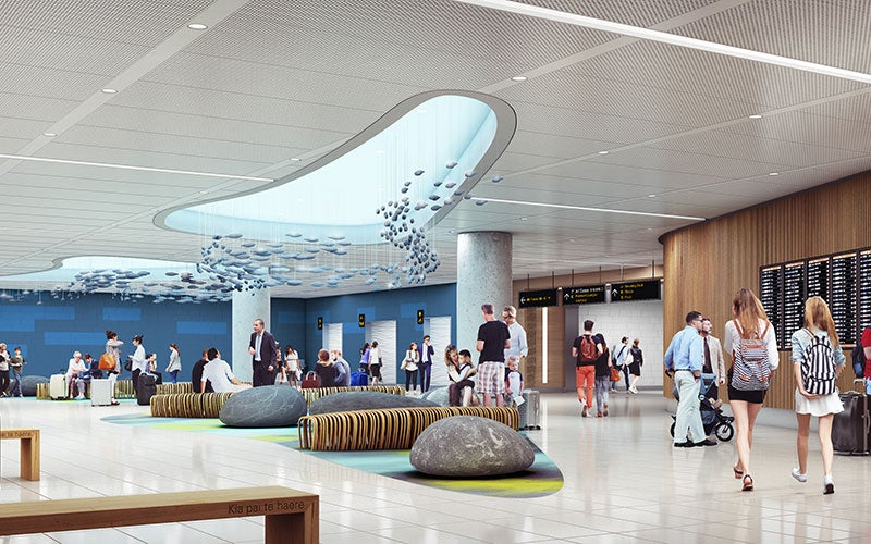 The security screening and processing area at the Auckland airport will be expanded.