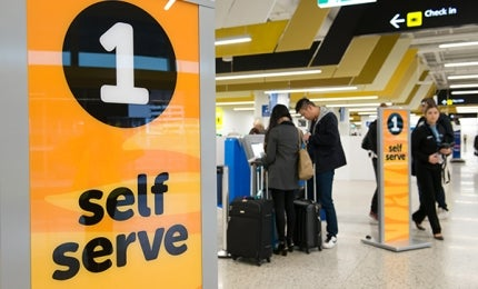 Self check-in at new T4 in Melbourne Airport